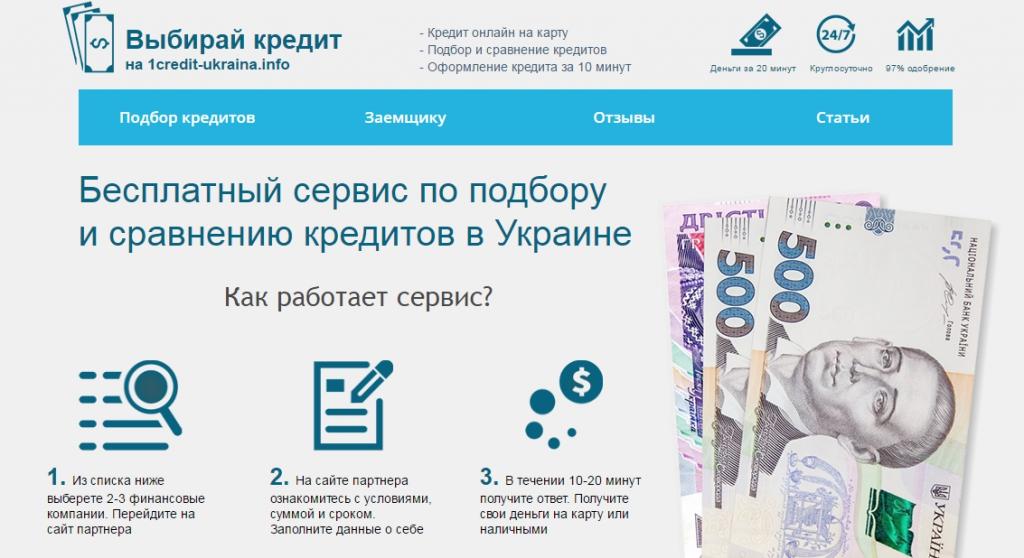 1credit-ukraina.info - Оформил кредит на сайте