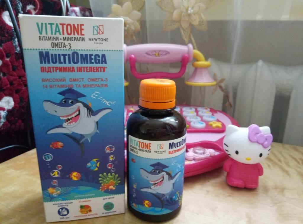 VitaTone витамины для детей с комплексом Омега-3 - Чудові вітаміни для росту розумної дитини!!!