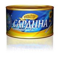 Рыбные консервы Сардина ТМ Екватор