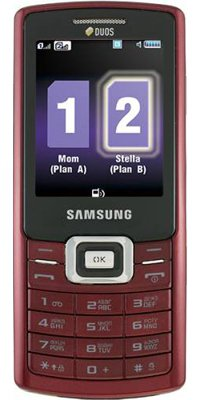 SAMSUNG C5212 DuoS Red