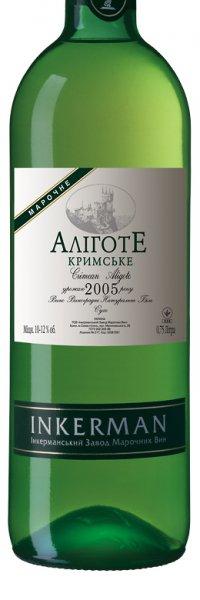 Вино Украины Белое Сухое ТМ Inkerman