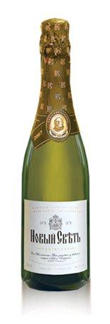 Шампанское Украины Белое Полусухое ТМ Новый свет
