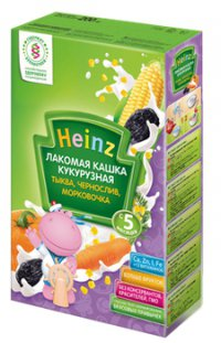 Каша без молока Для детей Кукурузная ТМ Heinz