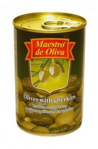 Оливки (зелёные) С огурчиками ТМ Maestro de Oliva