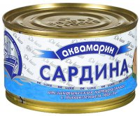 Рыбные консервы Сардина ТМ Аквамарин