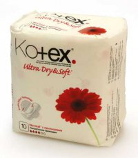 Прокладки гигиенические 4 крапинки ТМ Kotex