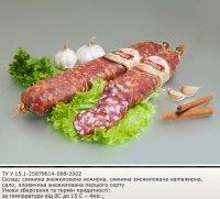 Колбаса сырокопченая ТМ Роганський мясокомбінат - Венеция