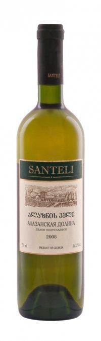 Вино Грузии Белое Полусладкое ТМ Santeli