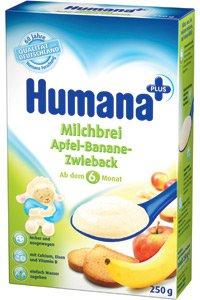 Молочная каша Для детей С фруктами ТМ Humana