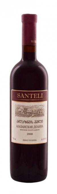 Вино Грузии Красное Полусладкое ТМ Santeli