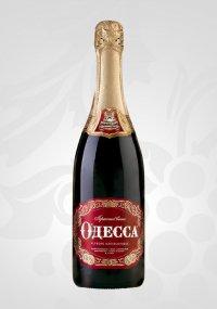 Шампанское Украины Красное Полусладкое ТМ Одесса
