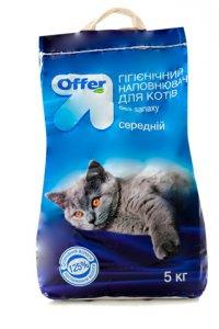 Наполнитель гигиенический Для котов ТМ Offer