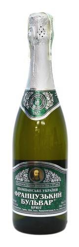 Шампанское Украины Белое Брют ТМ Французький бульвар