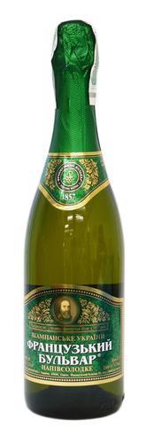 Шампанское Украины Белое Полусладкое ТМ Французький бульвар