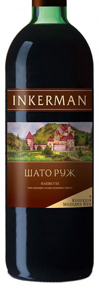 Вино Украины Красное Полусухое ТМ Inkerman