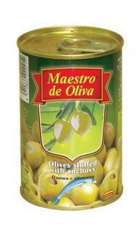 Оливки (зелёные) С анчоусом ТМ Maestro de Oliva