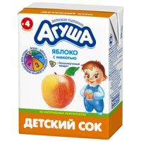 Детский сок Агуша (в картонной упаковке)