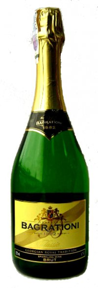 Шампанское Грузии Белое Брют ТМ Bagrationi