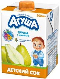 Сок Для детей ТМ Агуша