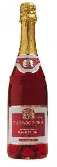 Шампанское Грузии Розовое Полусладкое ТМ Bagrationi