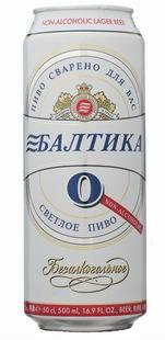 Пиво Без алкогольное ТМ Балтика