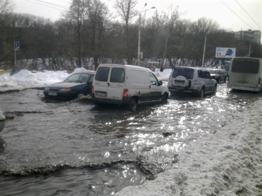Снегопад в Киеве -