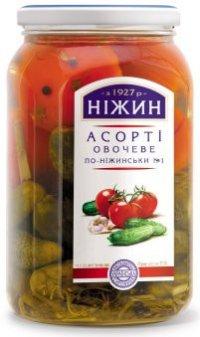 Овощные консервы Асорти ТМ Ніжин