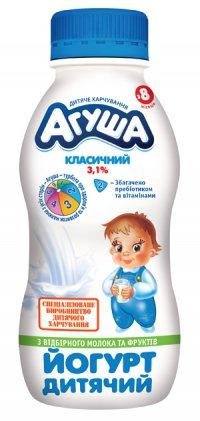Йогурт питьевой Для детей ТМ Агуша