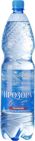 Вода Питьевая Газированная ТМ Прозора