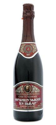 Шампанское Украины Красное Полусладкое ТМ Французький бульвар