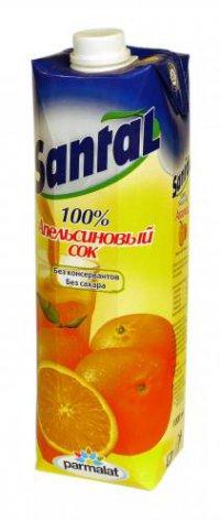 Сок Апельсин ТМ Santal