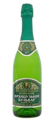 Шампанское Украины Белое Полусухое ТМ Французький бульвар