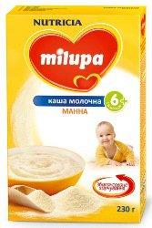 Молочная каша Для детей Манная ТМ Milupa
