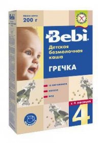 Каша без молока Для детей Гречневая ТМ Bebi
