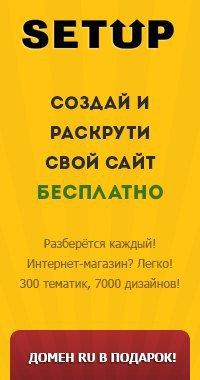 Бесплатный конструктор сайтов setup.ru