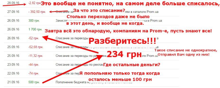 Prom.ua - Ограблен компанией Prom.ua. Будьте осторожны!