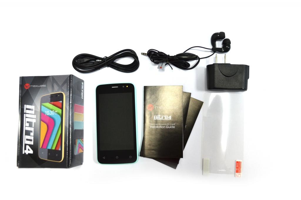Комплектация смартфона Maxwest Nitro 4 Dual Sim 4Gb Blue