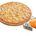 Отзыв о Пиццерия Доминос (Domino's): А какой формы бывают пицы , и сколько должно быть начинки?