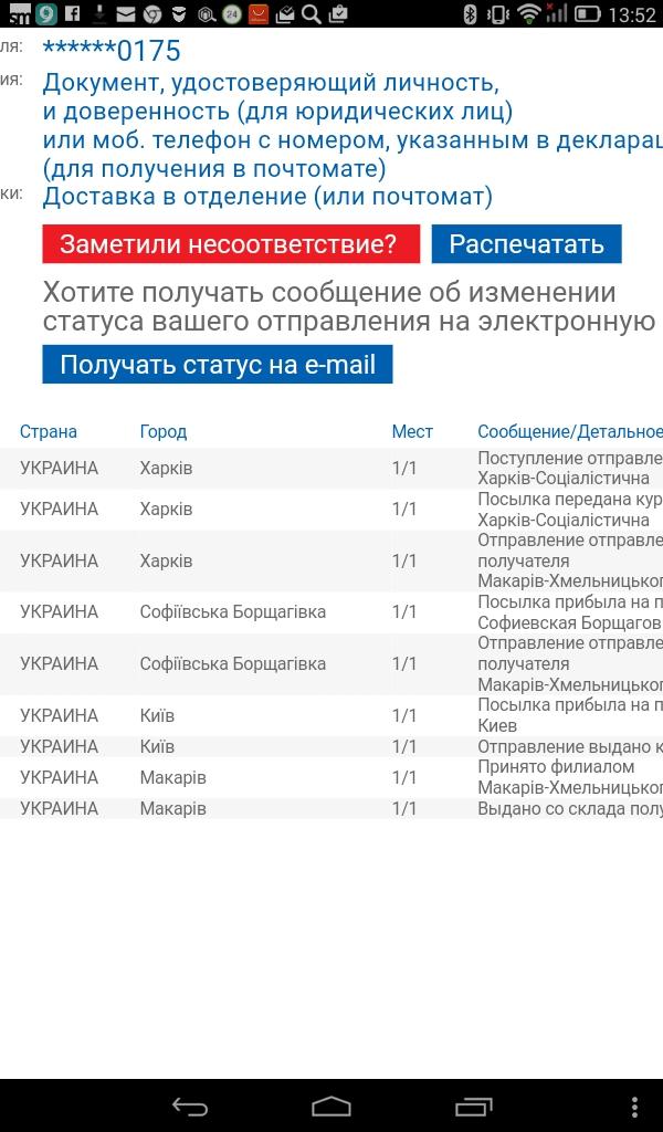 Мист Экспресс - 708-5016021 Маршрут: Харків - Макарів-Хмельницького