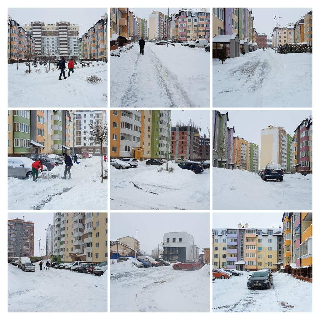 Вишневое, ул. Пионерская (9,14,18,20) - Територія прибрана навіть після великих опадів снігу