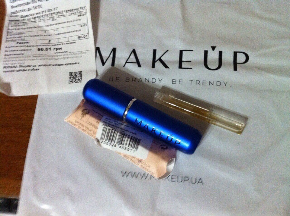 Интернет - магазин makeup.com.ua - заказала духи Deep Red