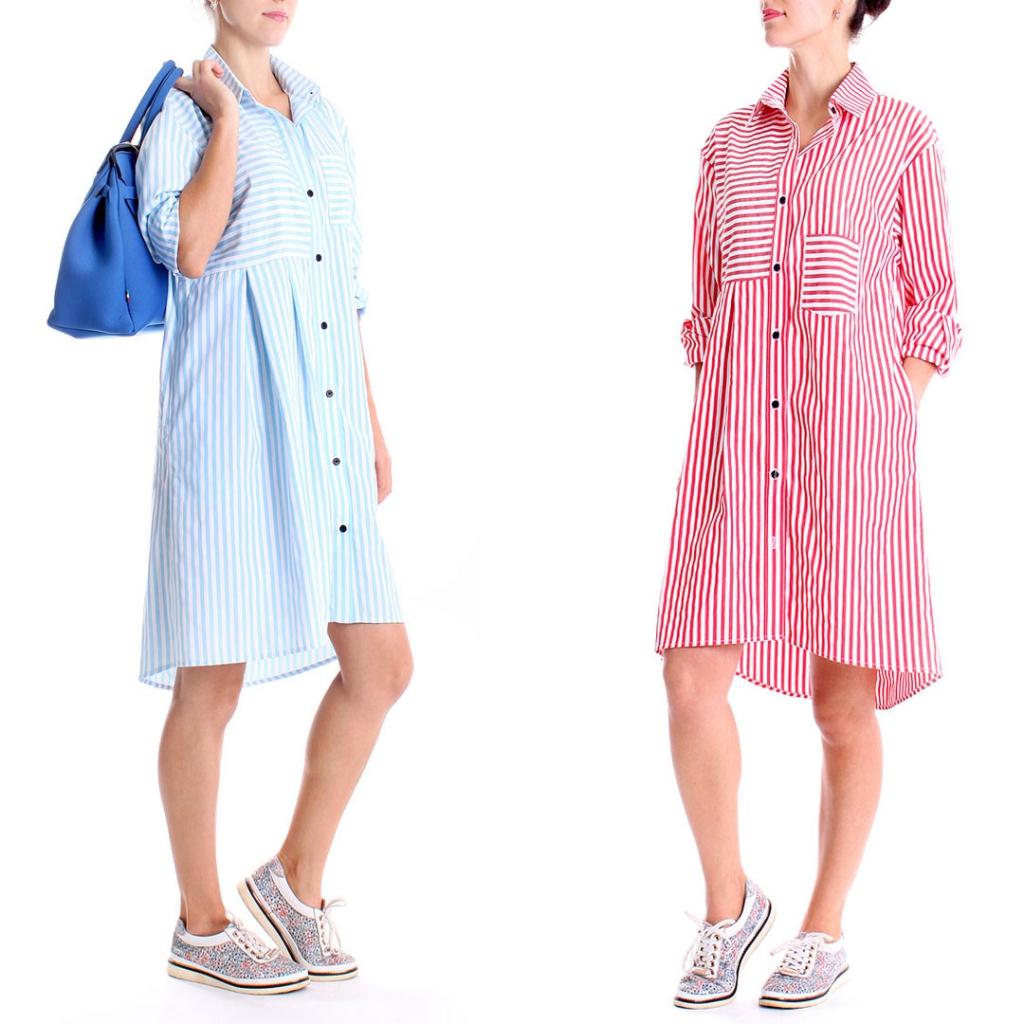 Интернет магазин одежды - F style - ПЛАТЬЕ-РУБАШКА ANDREA CROCETTA