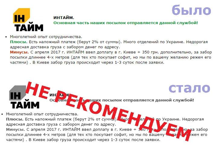 Ин-Тайм - СКОТСКОЕ ОТНОШЕНИЕкомпании ИНТАЙМ ПЕРЕШЛО ВСЕ ГРАНИЦЫ