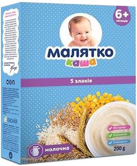 Каша Малятко молочная (5 злаков)