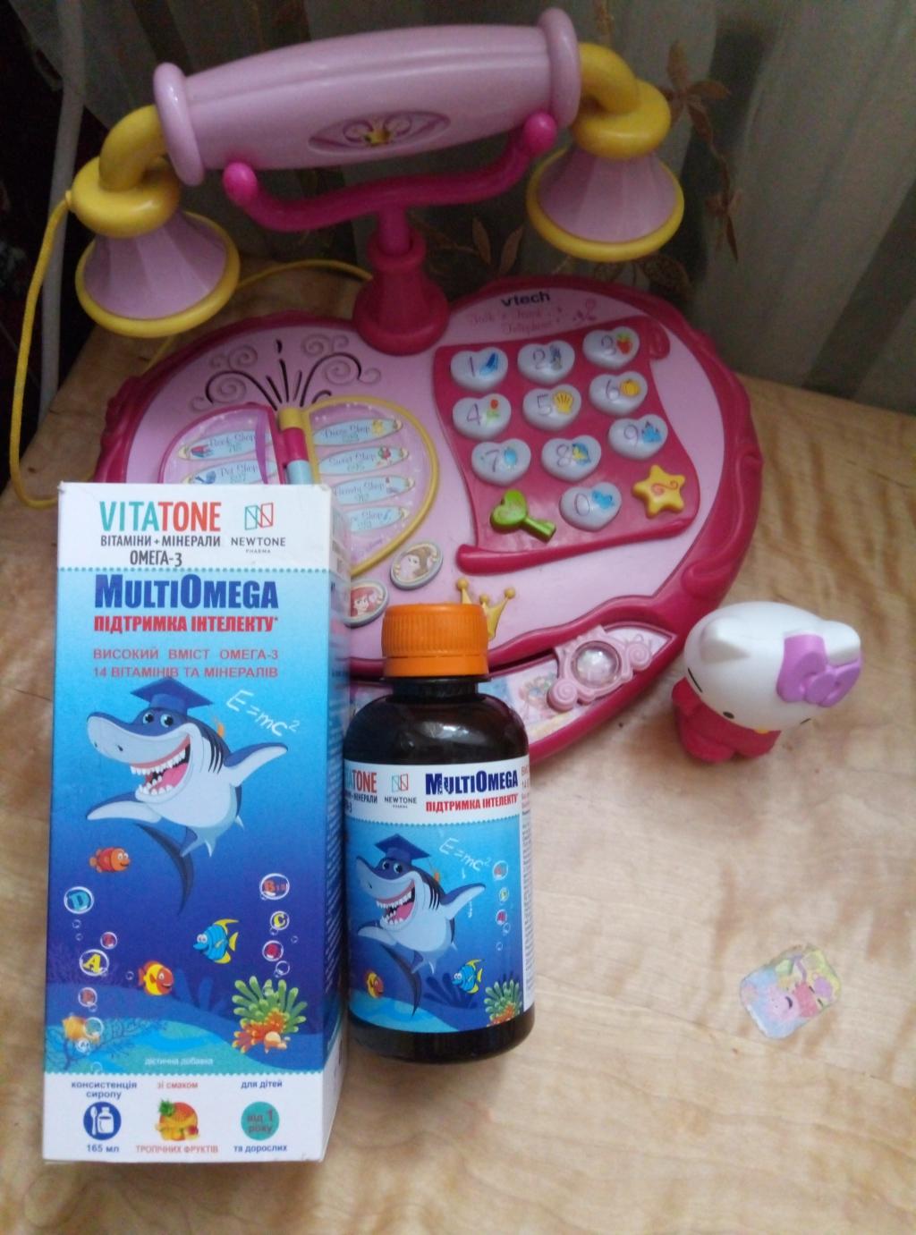 VitaTone витамины для детей с комплексом Омега-3 - РЕКОМЕНДУЮ ВСІМ ТУРБОТЛИВИМ І СВІДОМИМ БАТЬКАМ!!!