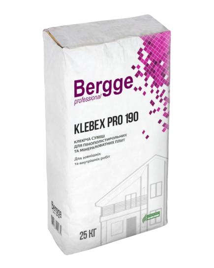 Клей для утеплителя BERGGE KLEBEX PRO 190