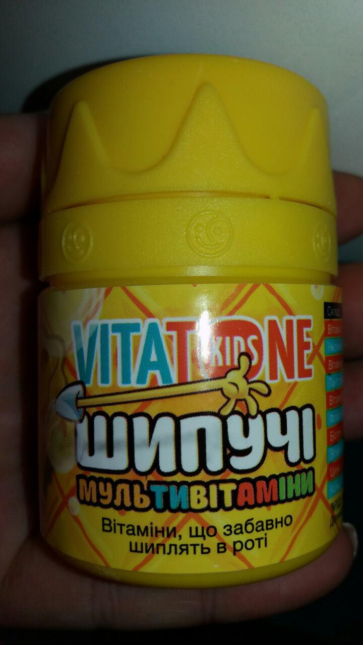 VitaTone Kids шипучие мультивитамины - Шипучки Губки Боба