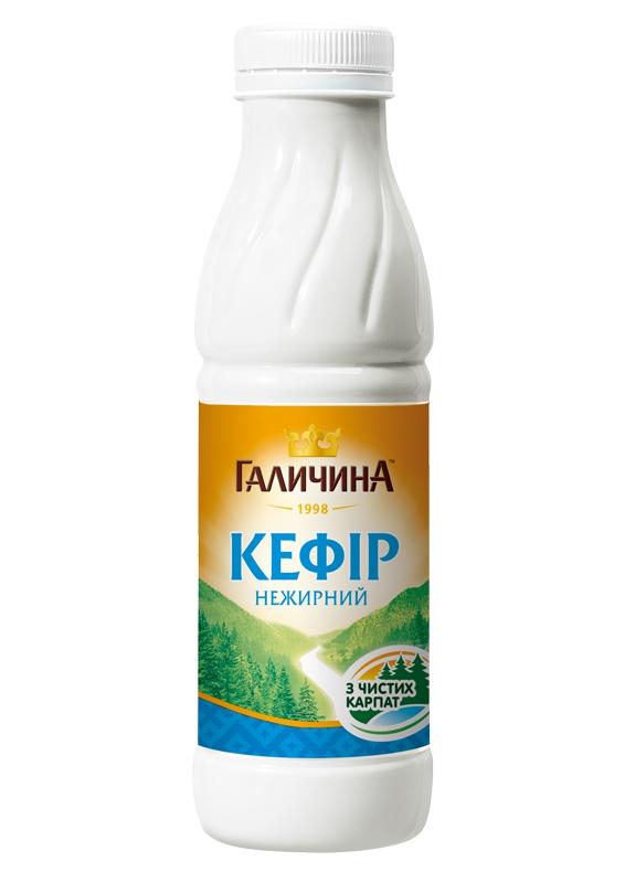 Био кефир ТМ Галичина - Новий дизайн пляшки і ще кращий смак!