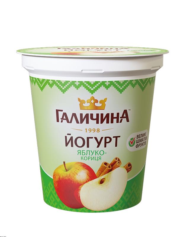Йогурт густий яблуко-кориця