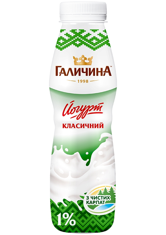 Йогурт питний КЛАСИЧНИЙ ТМ ГАЛИЧИНА